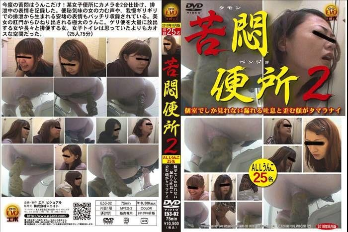 Pooping Muffled sighs girls defecation in toilet. SD E53-02 [Closeup, Jade scat, Spy camera] ( 2019 / 1.02 GB)
